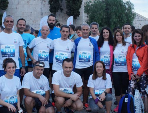 ΔΕΛΤΑ Running team στο Lightning up Athens